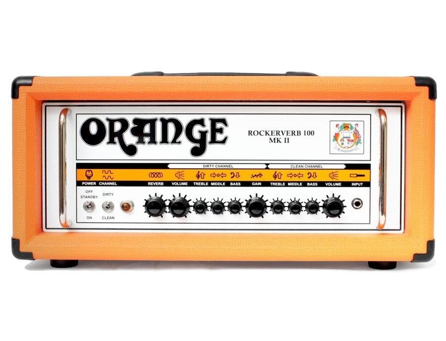 Orange rockerverb mkii 100 watt tube guitar amp head xl