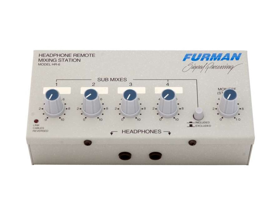 Furman hr 6 headphone remote mixing station xl