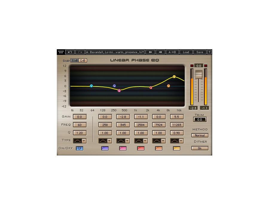 Waves linear phase eq plugin xl