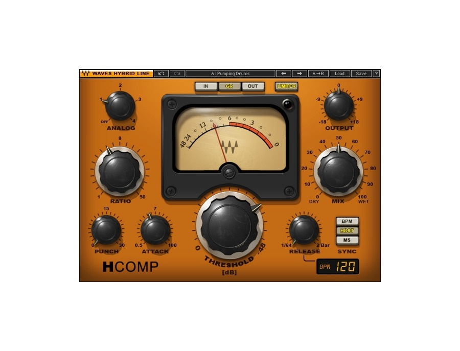 Waves H-Comp Hybrid Compressor Plugin
