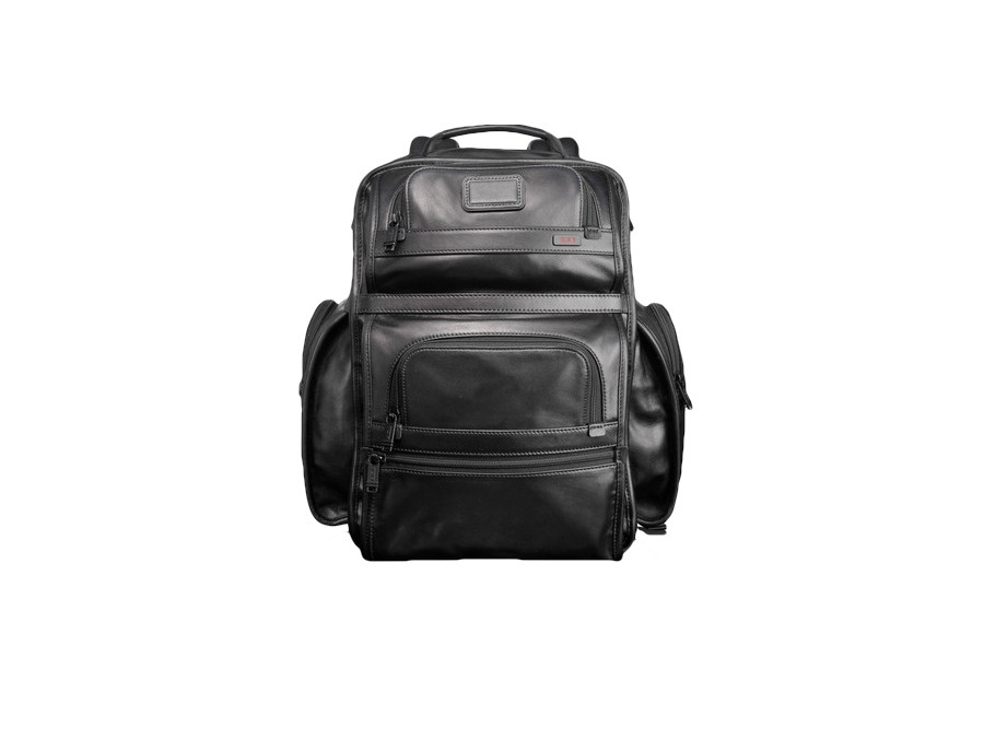 Tumi Alpha T-Pass Business Class Leather Brief Pack