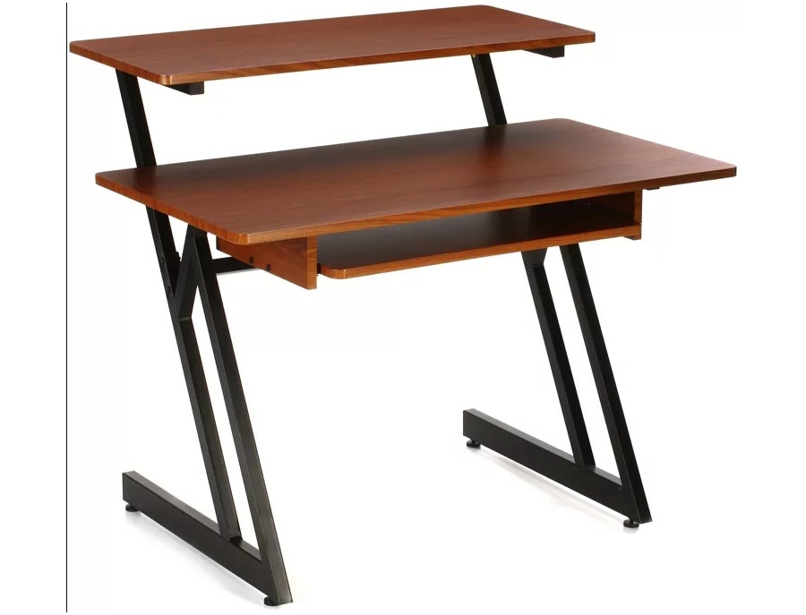 On stage stands ws7500 wooden workstation rosewood xl