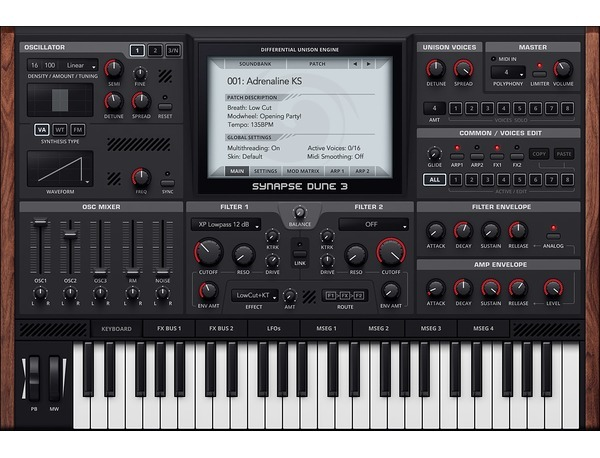 Synapse audio software dune 3 xl