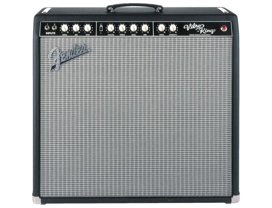 Fender vibro king custom 60w 3x10 tube guitar combo amp black xl