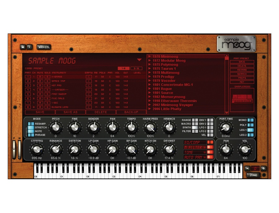 IK Multimedia SampleMoog