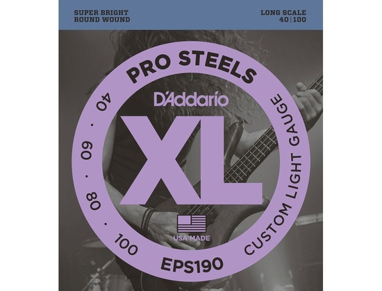 D'Addario EPS190 Pro Steels Long Scale 40/100