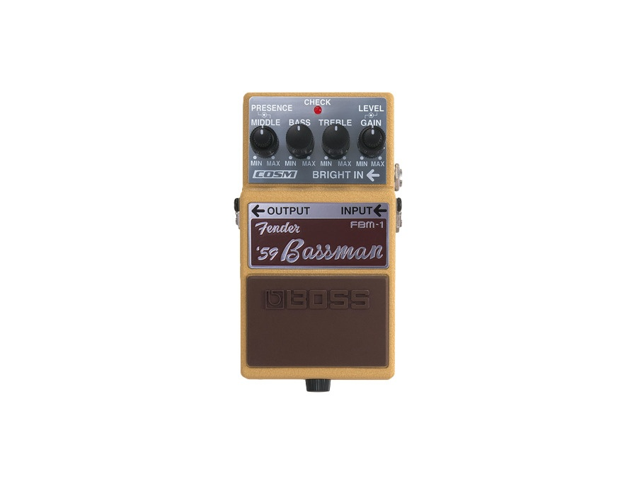 boss fbm 1 fender 39 59 bassman guitar effects pedal reviews prices equipboard. Black Bedroom Furniture Sets. Home Design Ideas