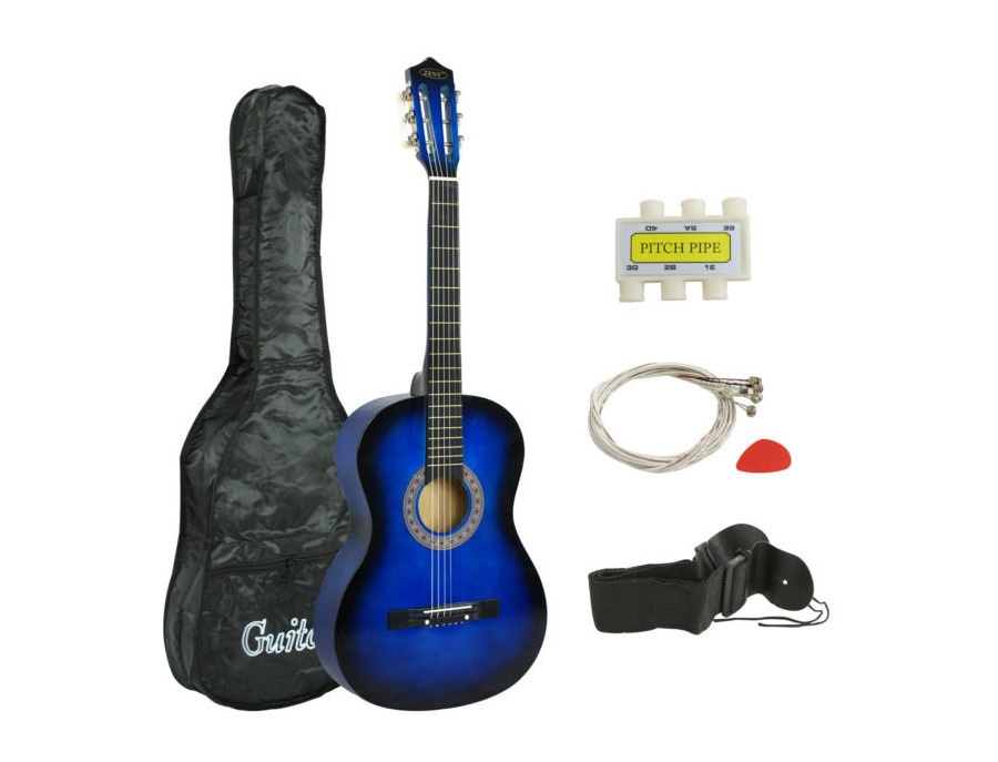 Zeny acoustic guitar set blue xl
