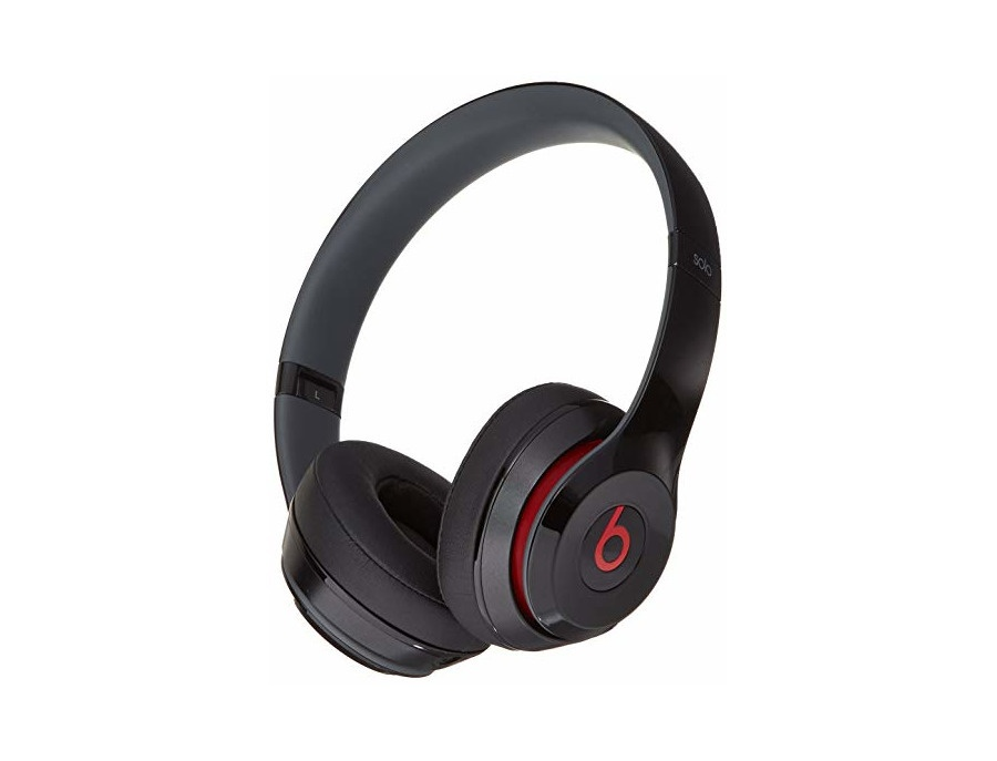 Beats solo2 wired on ear headphone black red xl