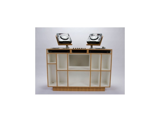 Dual San Francisco Full Size DJ Console with record/CD Book Storage