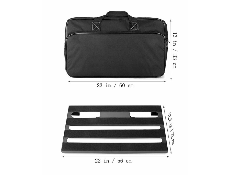 gokko audio gkb 52 guitar effects pedal board case 22 x 12 6 pedalboard with carrying bag. Black Bedroom Furniture Sets. Home Design Ideas