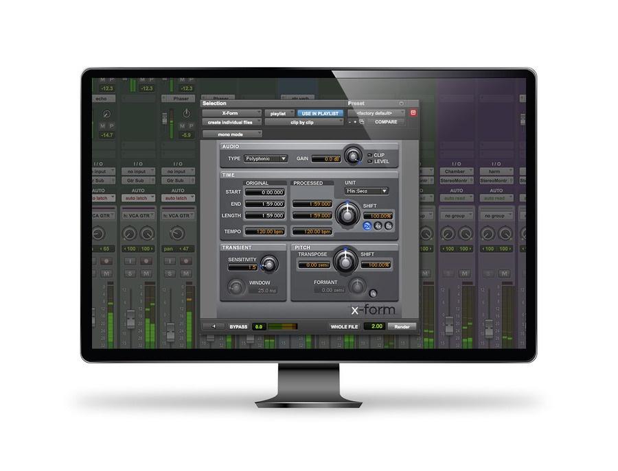 Elastic audio avid x form xl