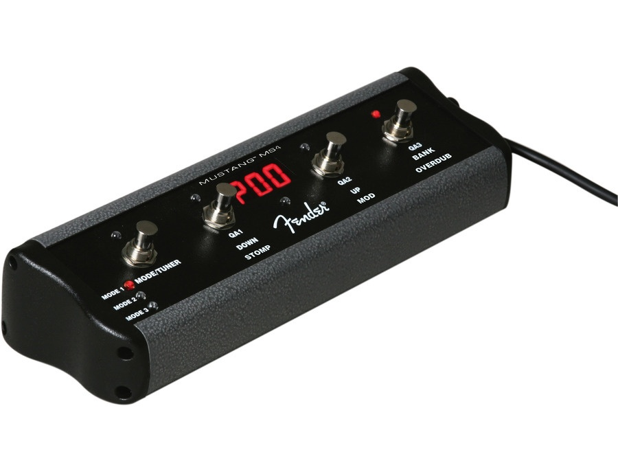 Fender 4 button footswitch for mustang iii iv v amplifiers xl