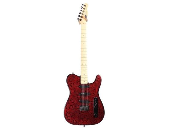 Fender James Burton Signature Telecaster 1990 Black/Candy Apple Red Paisley