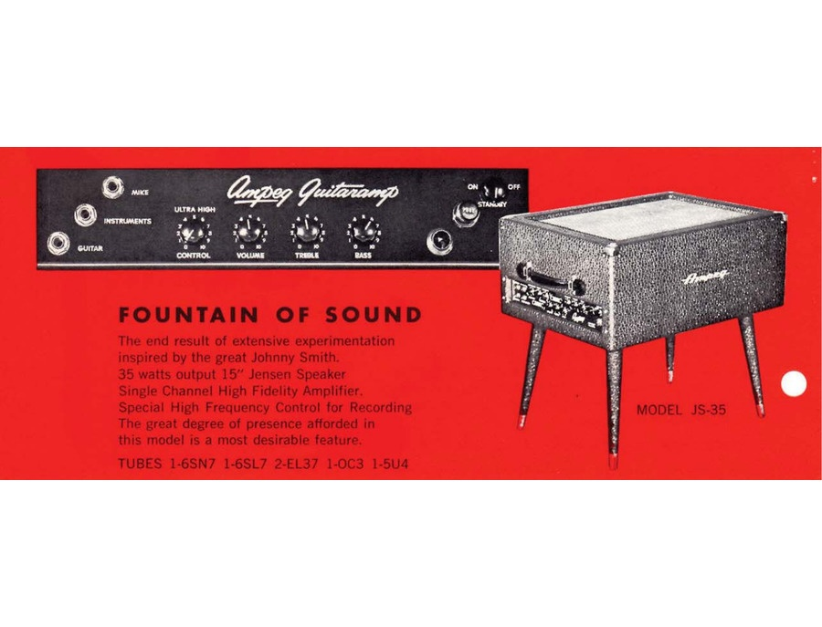 Ampeg js 35 johnny smith fountain of sound xl
