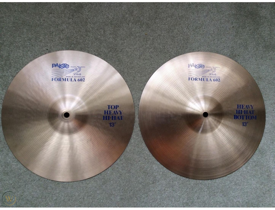 Paiste 13 formula 602 blue label heavy hi hats xl