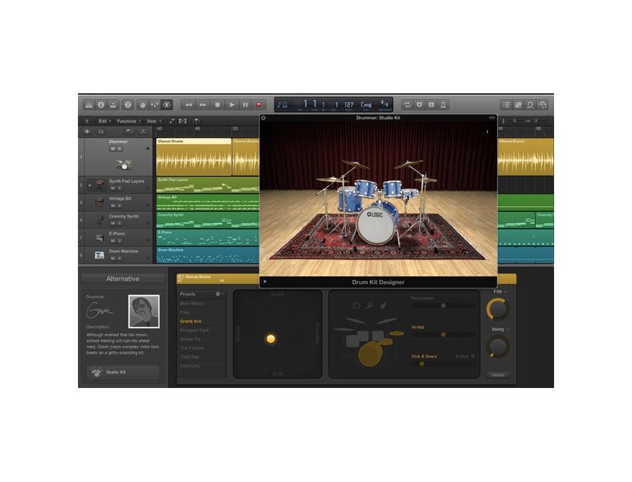 apple logic x drum kit designer reviews prices equipboard. Black Bedroom Furniture Sets. Home Design Ideas