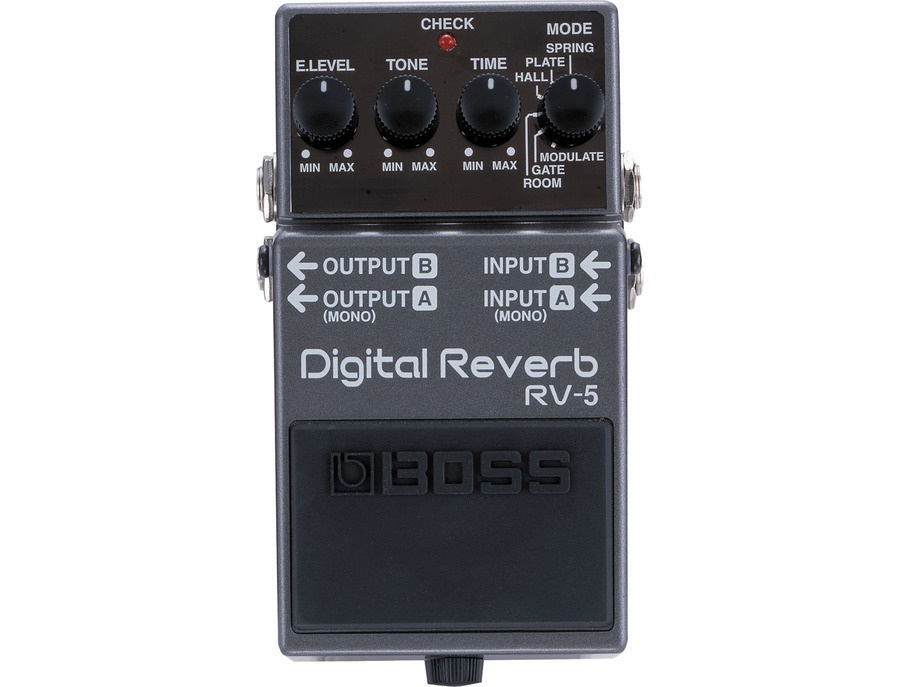 Boss rv 5 digital reverb effects pedal xl