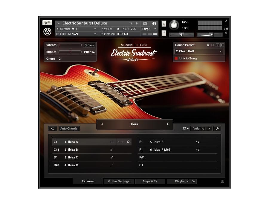 Session guitarist electric sunburst deluxe xl