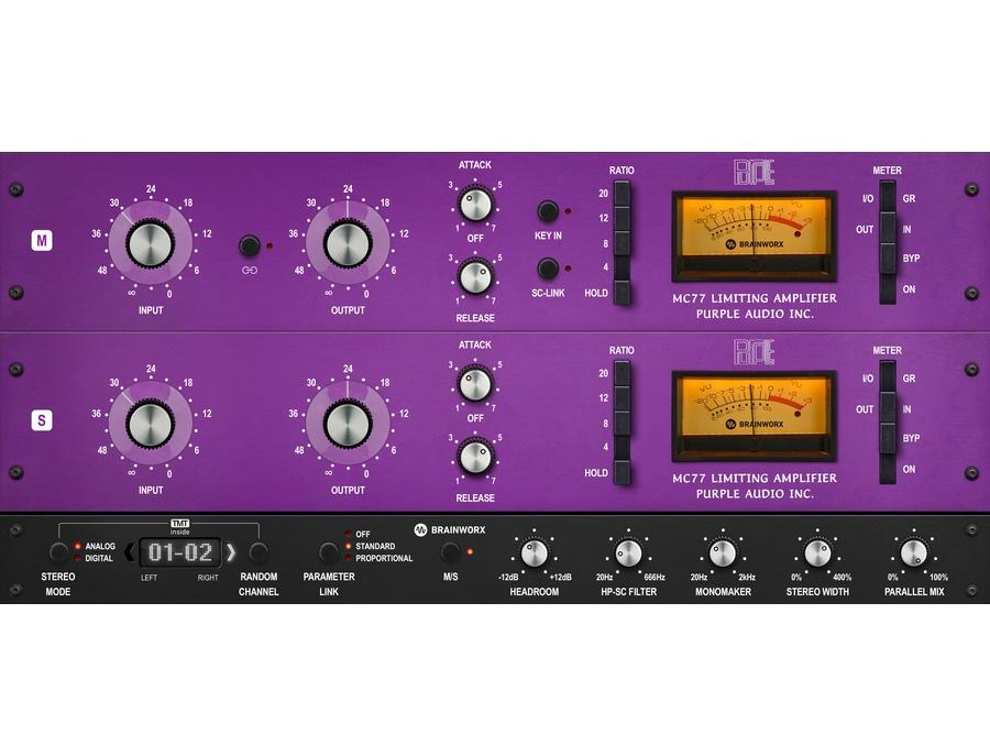 Brainworx purple audio mc77 xl