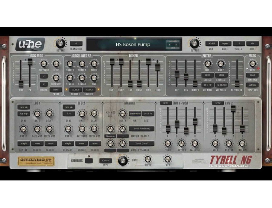 u-he TyrellN6 Software Synthesizer