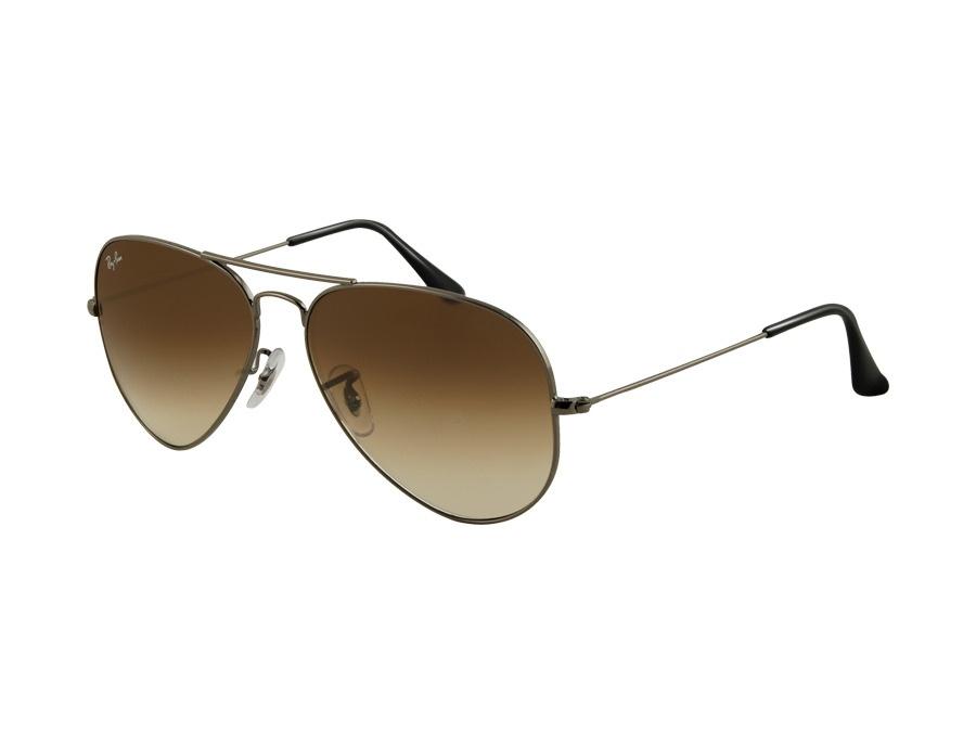 Ray-Ban RB3025 Gunmetal Aviator Sunglasses