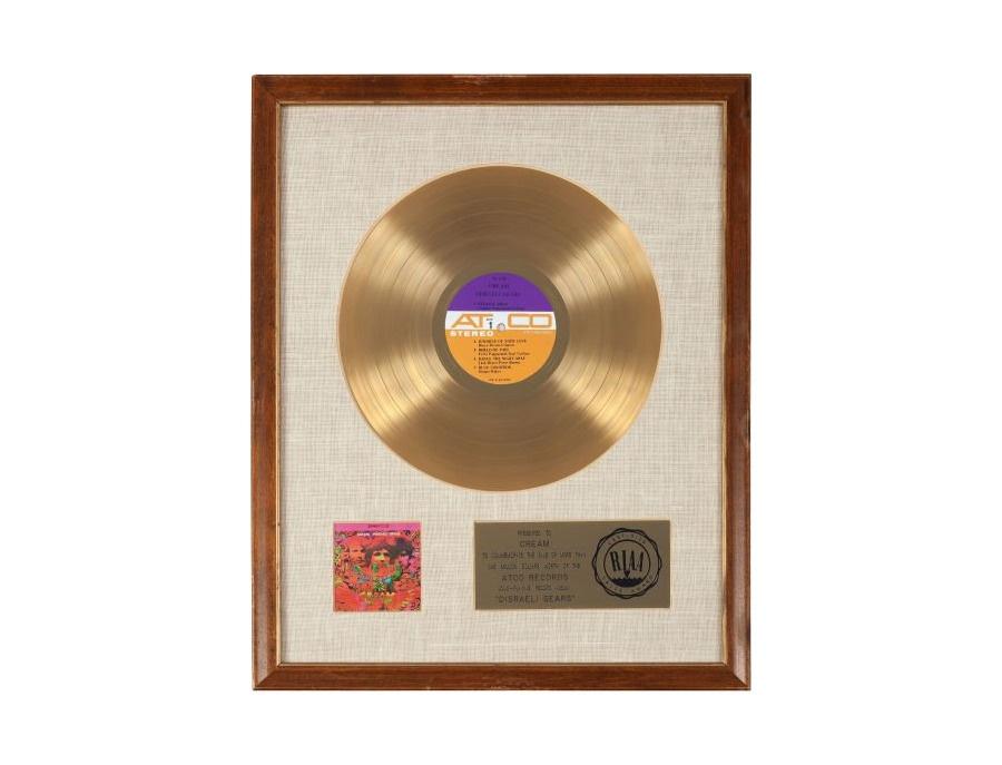 "RIAA Gold Sales Award – ""Disraeli Gears"""