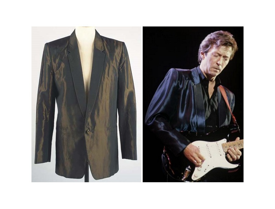 Antony Price Two-Tone Black Silk Jacket
