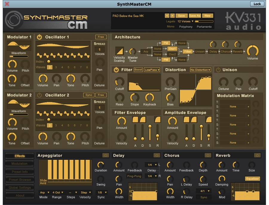 KV331 Audio SynthMaster Software Synthesizer CM