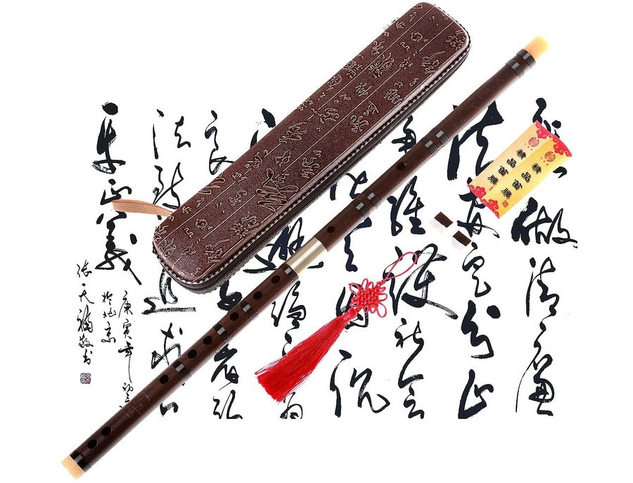 Ns musical chinese aged rosewood flute dizi key of d xl