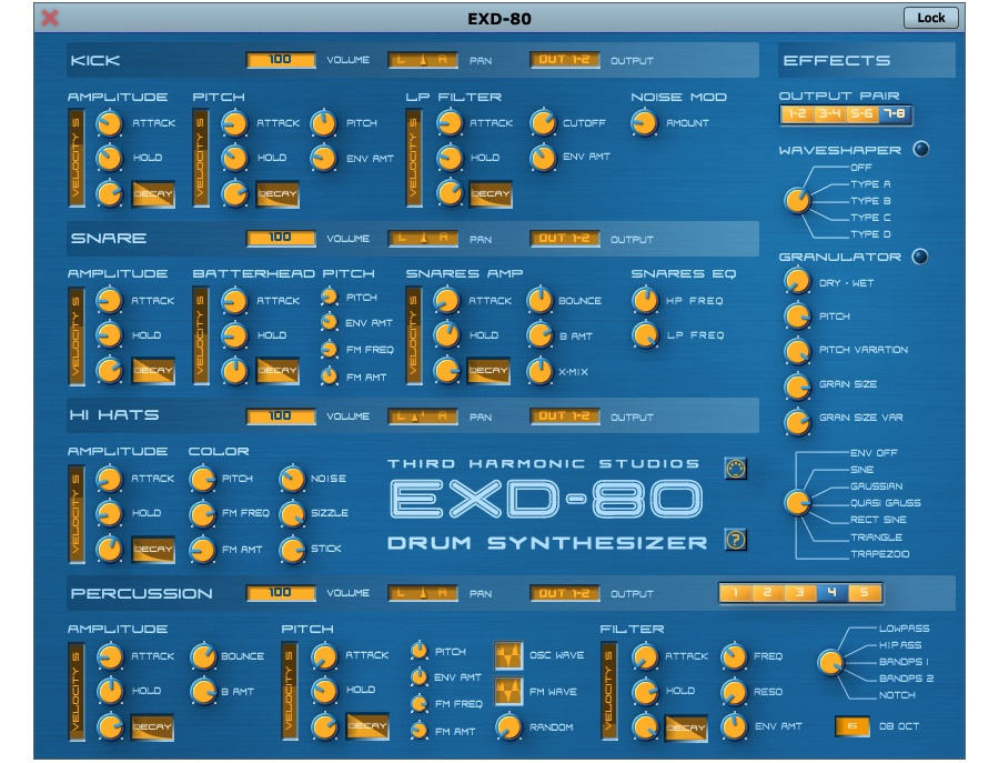 EXD-80 Drum Synthesizer