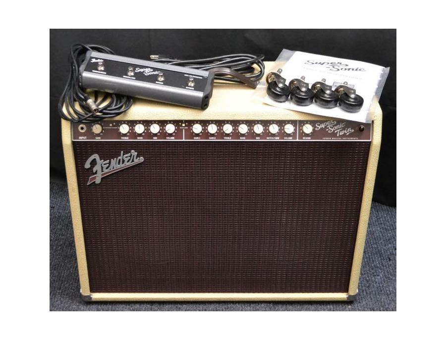 Fender fender super sonic twin combo tube guitar amplifier blonde 2x12 100w xl