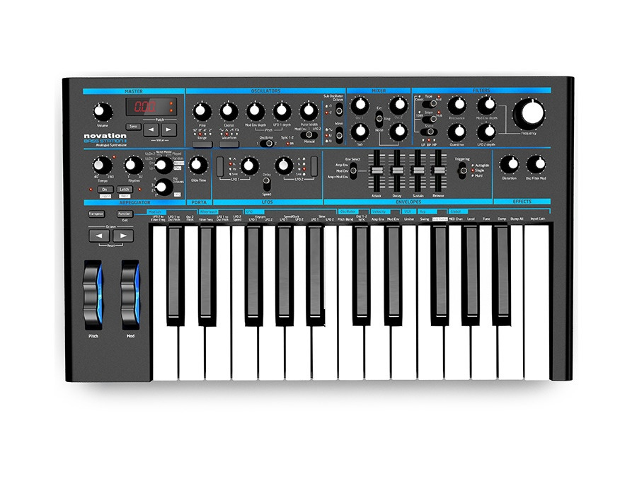Novation bass station ii analogue mono synth xl