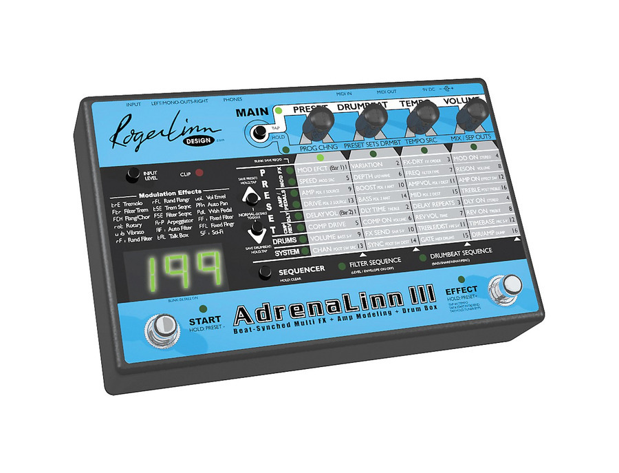 Roger linn design adrenalinn iii guitar effects processor 02 xl