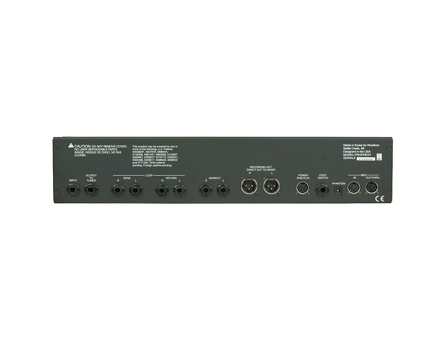 Rocktron prophesy ii 4 channel rackmount guitar preamp and effects processor 00 xl