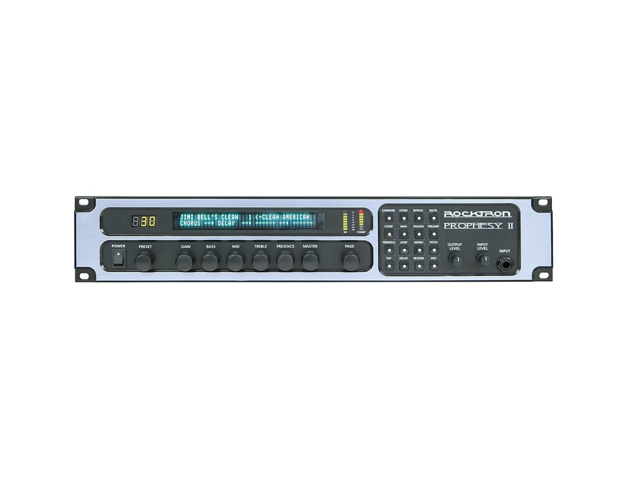 Rocktron prophesy ii 4 channel rackmount guitar preamp and effects processor 04 xl