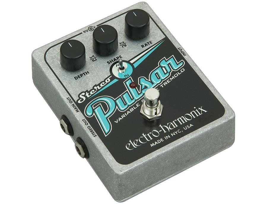 Electro harmonix xo stereo pulsar tremolo guitar effects pedal 01 xl