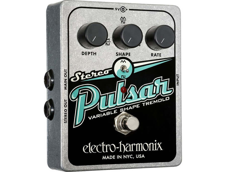 Electro harmonix xo stereo pulsar tremolo guitar effects pedal 02 xl