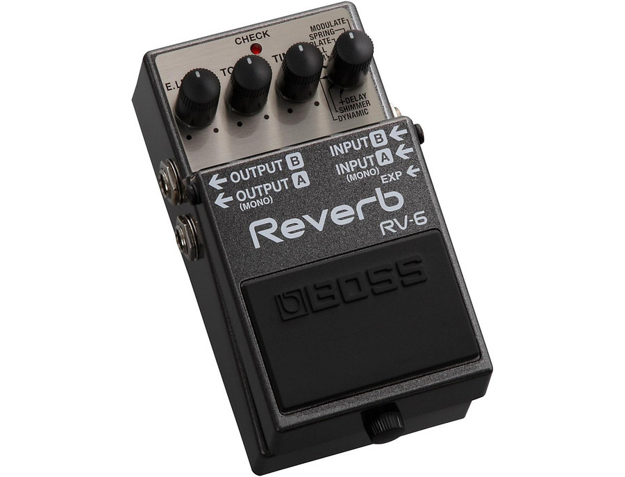 Boss rv 6 digital reverb effects pedal 00 xl