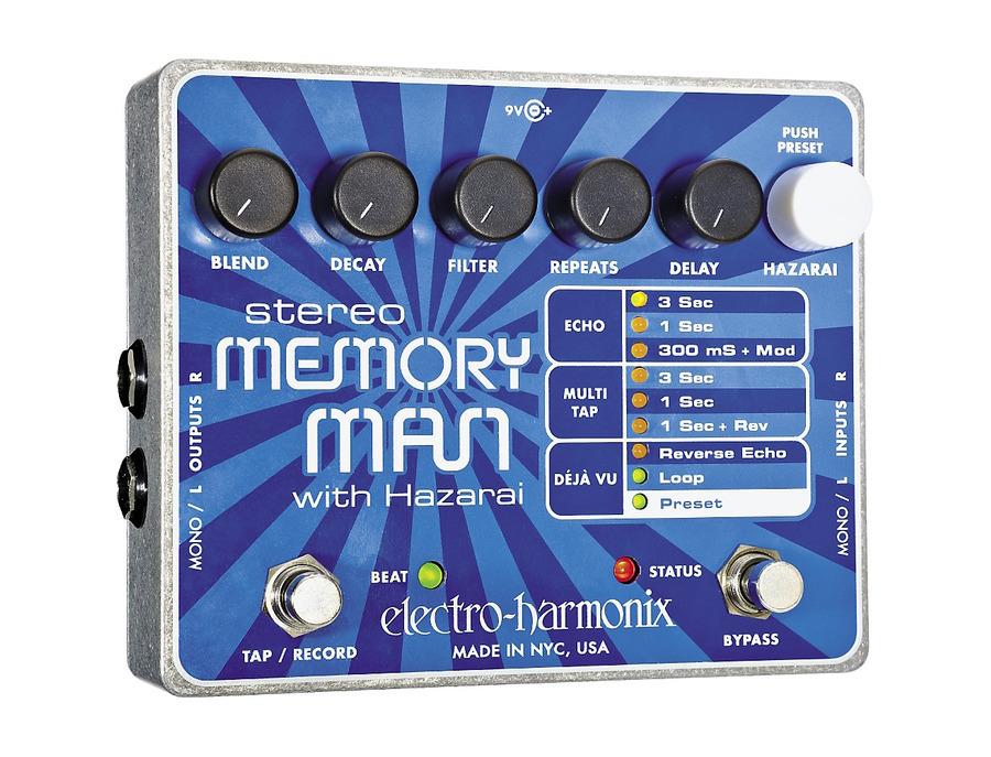 Electro harmonix stereo memory man with hazarai 02 xl