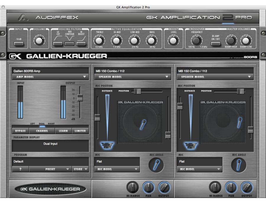 Audiffex gallien krueger amplification 2 pro 00 xl