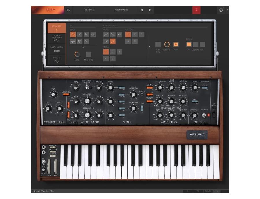 Arturia minimoog mini v software synthesizer 03 xl