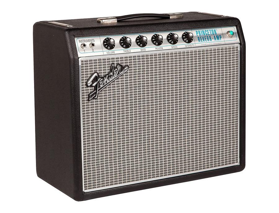 Fender 68 custom princeton reverb 12w 1x10 tube guitar combo amp 00 xl