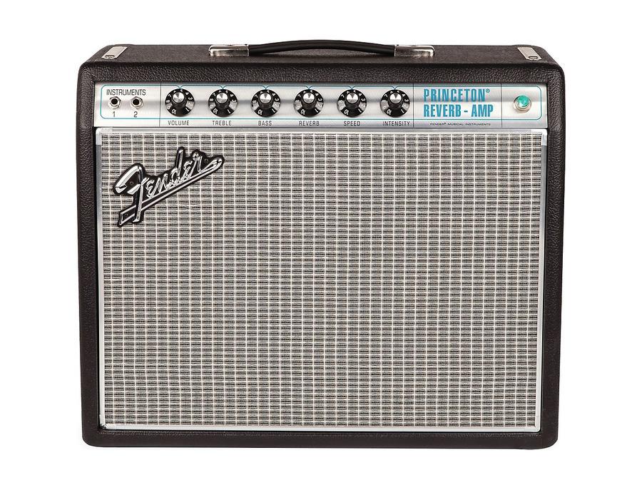 Fender 68 custom princeton reverb 12w 1x10 tube guitar combo amp 01 xl