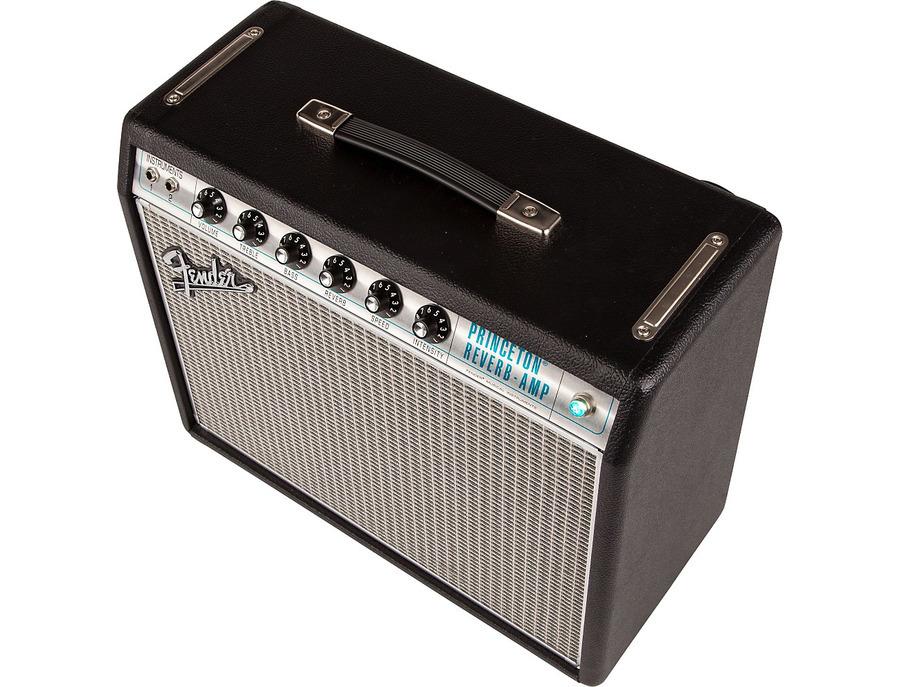 Fender 68 custom princeton reverb 12w 1x10 tube guitar combo amp 02 xl