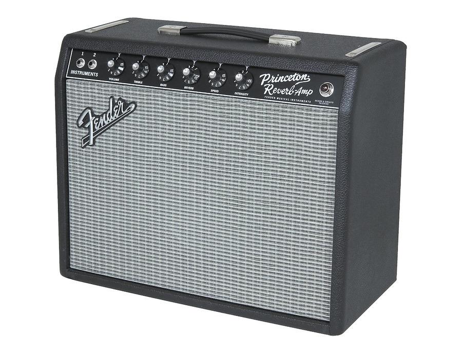 Fender 65 princeton reverb 15w 1x10 tube guitar combo amp 02 xl