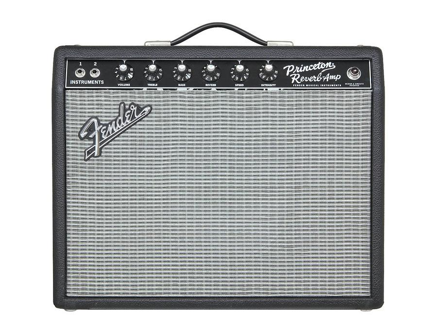 Fender 65 princeton reverb 15w 1x10 tube guitar combo amp 04 xl