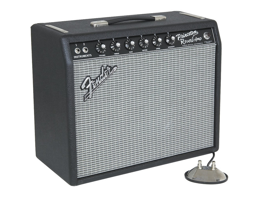 Fender 65 princeton reverb 15w 1x10 tube guitar combo amp 05 xl