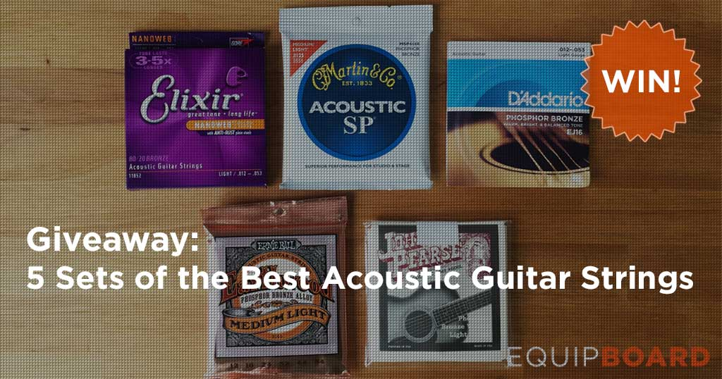 Giveaway: 5 Sets of our Favorite Acoustic Guitar Strings