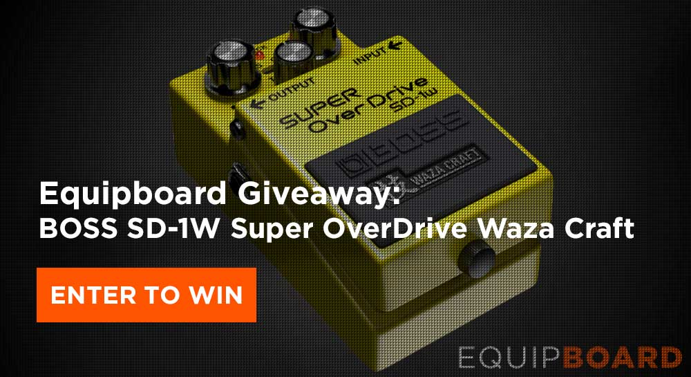 Giveaway: BOSS SD-1W Super OverDrive Waza Craft